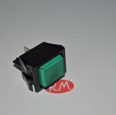 Piloto luz señalización verde 22 x 30 mm