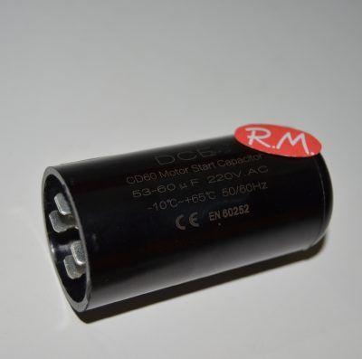Condensador de arranque motor compresor 53- 60 uf 220v