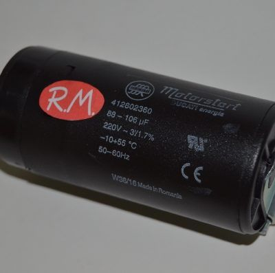 Condensador de arranque motor compresor 80 - 100 uf 220v