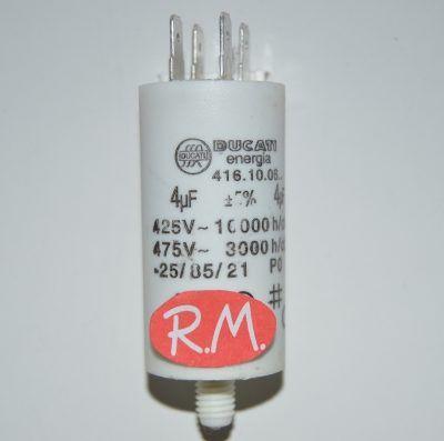 Condensador de trabajo 4uf 450 V