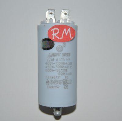 Condensador de trabajo 22uf 450 V