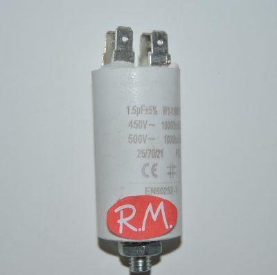 Condensador de trabajo 1,5uf 450 V