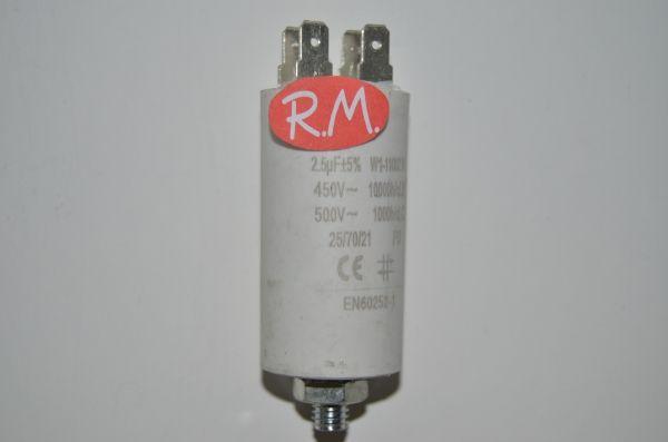 Condensador de trabajo 2,5uf 450 V