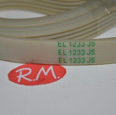 Correa lavadora EL 1233 J5 Candy 92130442
