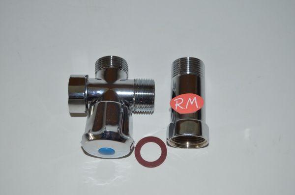 Grifo adaptador 3 / 4 para grifería fregadera a pared 6109
