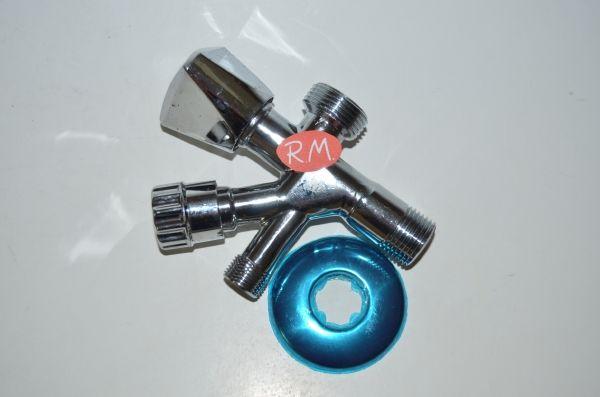 Grifo Mixto lavadora llave de escuadra