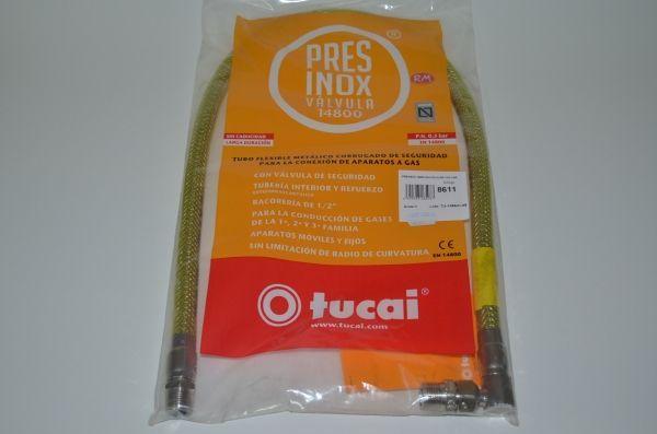 Tubo gas natural presinox M - M 1 / 2 1000 mm