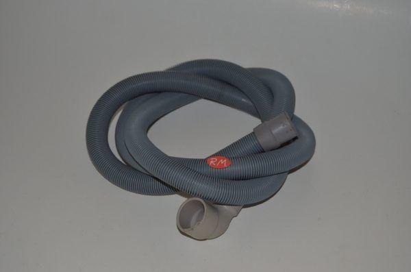 Tubo desagüe lavadora 2 bocas 180° Ø 21 mm 90° Ø 30 mm 1,8 metros