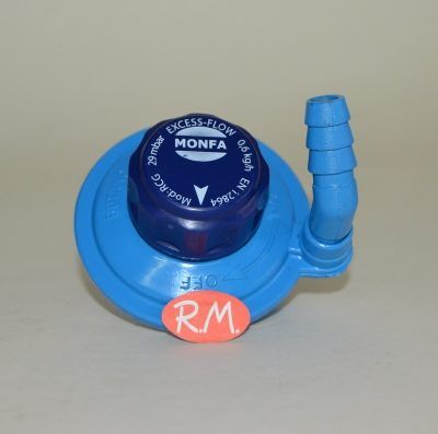 Grifo regulador 28 gr adaptable botella popular azul