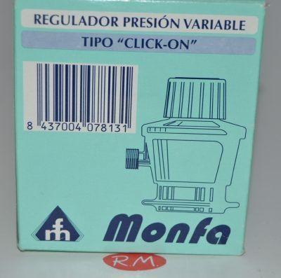 Regulador gas presión variable tapón negro