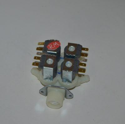 Electroválvula 4 vías standard salida 180° 036690