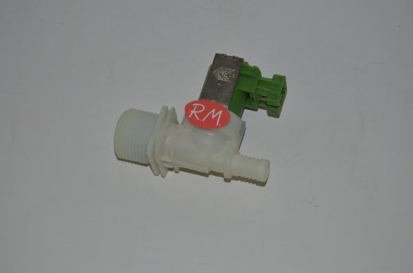 Electroválvula 1 vía lavadora Zanussi salida 180° 3792260436