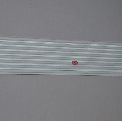 Rejilla ventilación entre mármol y horno blanca 60x12cm