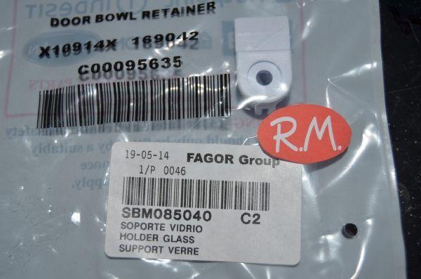 Soprte cristal puerta secadora Edesa SBM085040