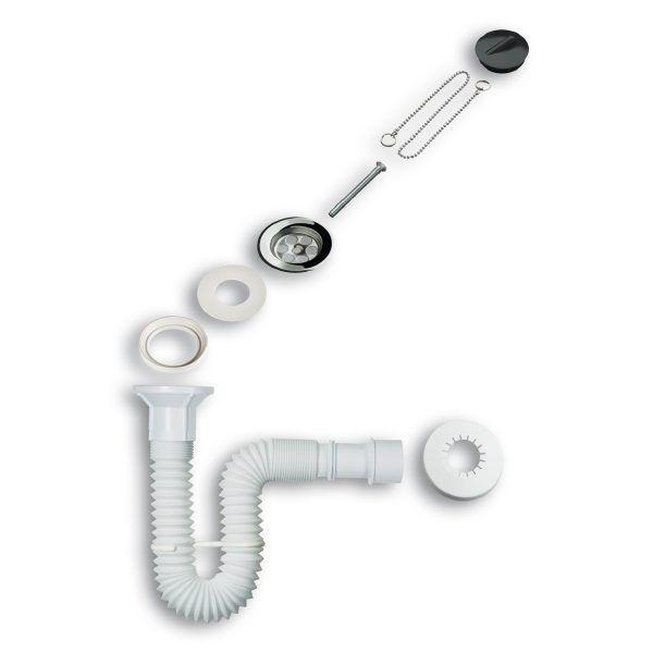 Sifón extensible con válvula