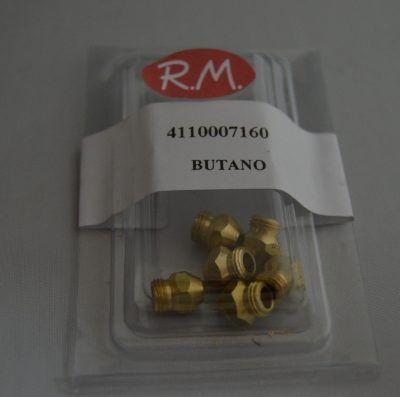 Conjunto inyectores a gas butano cocina M-7