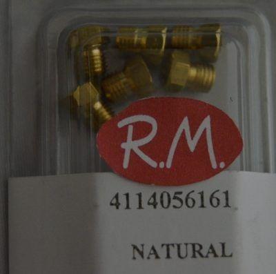Conjunto inyectores a gas natural encimera 6 unidades