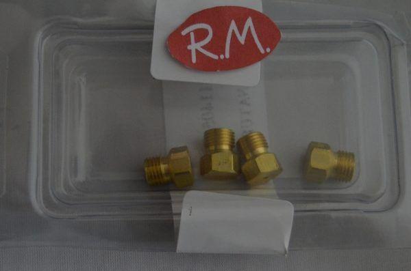 Conjunto inyectores a gas natural encimera Teka E600