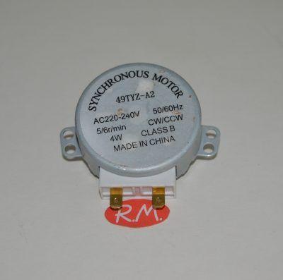 Motor giraplatos microondas 5/6rpm 1 chaflan Ø7