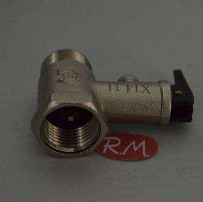 Válvula de seguridad termo eléctrico M-H 1/2 8,5 bar 180°