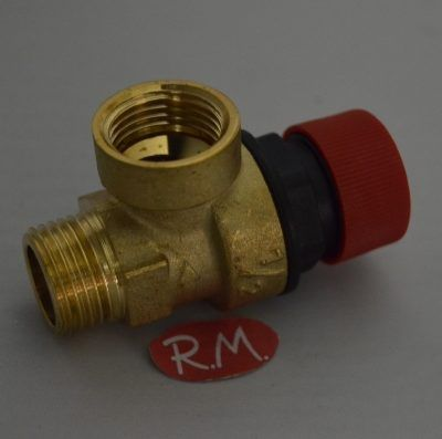 Válvula de seguridad caldera M-H 1/2 3 bar 90°