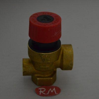 Válvula de seguridad caldera H-H 1/2 3 bar 90°