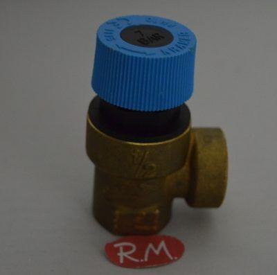 Válvula de seguridad caldera H-H 1/2 7 bar 90°