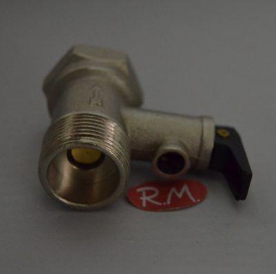 Válvula de seguridad termo eléctrico M-H 3/4 9,5 bares 180°
