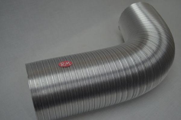 Tubo de aluminio flexible compacto Ø 200 mm a metros