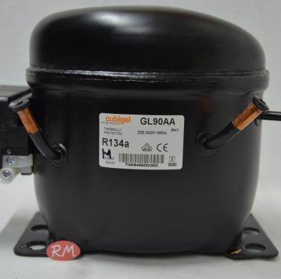 Compresor frigorífico 1/4cv. R-134 GL90AA baja