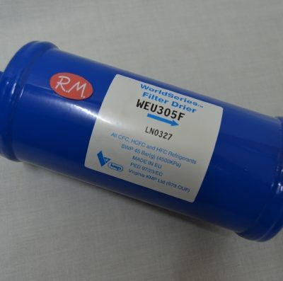 "Filtro deshidratador bi-flujo frio comercial WEU305F rosca de 5/8"""