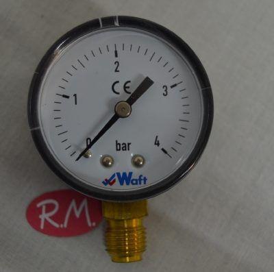 "Manómetro 4 bares de presión Ø 50 mm rosca macho 1/4"""