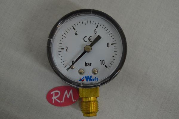 "Manómetro 6 bares de presión Ø 50 mm rosca macho 1/4"""
