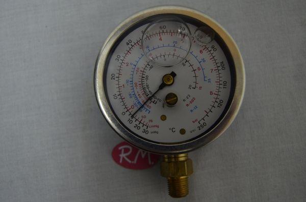 Manómetro glicerina de baja azul para R-12 R22 R502