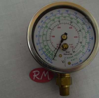 Manómetro de alta (rojo) Ø80mm para R22 R134A R404A R407C