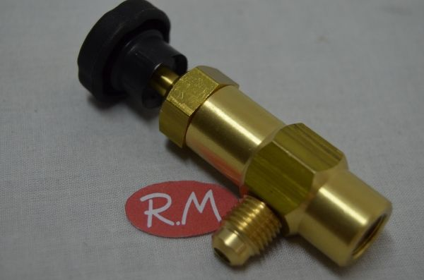 Válvula carga para botella refrigerante M-1/4 SAE X H-1/4 GAS