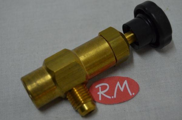 Válvula carga para botella refrigerante M-1/4 SAE x H-1/4 SAE