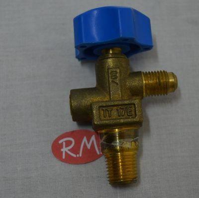 Válvula botella freón refrigerante 1/4 npt x 1/4 SAE