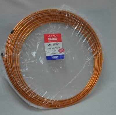 Tubo cobre frigorífico 3/16 rollo de 15m