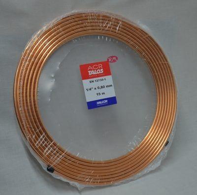 Tubo cobre frigorífico 1/4 rollo de 5m