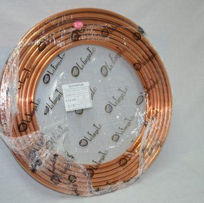 Tubo cobre frigorífico 3/8 rollo de 15m