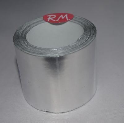 Rollo cinta aluminio adhesiva 30 micras 10 metros 50 mm