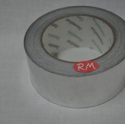Rollo cinta aluminio adhesiva 30 micras 50 metros 50 mm