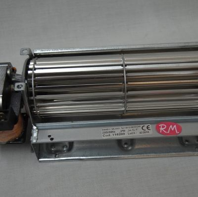 Motor ventilador tangencial izquierdo 180 mm