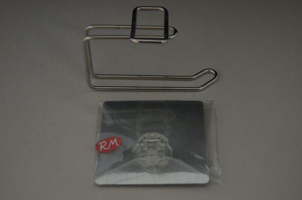 Portarrollos wc inox adhesivo reutilizable recambios for Portarrollos bano adhesivo