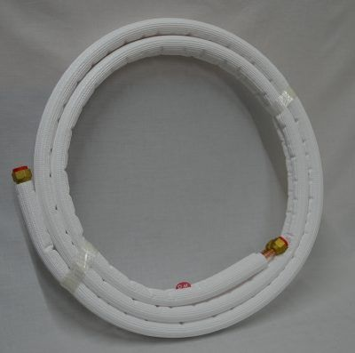 """Rollo de 3m tubo cobre frigorífico aislado y abocardado 1/4"""" - 3/8"""""""