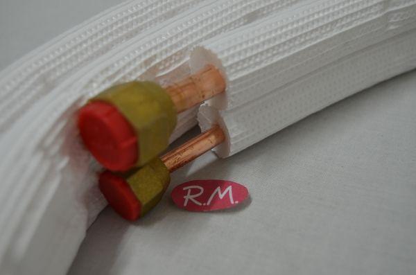 Rollo de 3m tubo cobre frigorífico aislado y abocardado