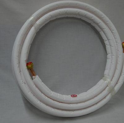 """Rollo de 5m tubo cobre frigorífico aislado y abocardado 1/4"""" - 1/2"""""""