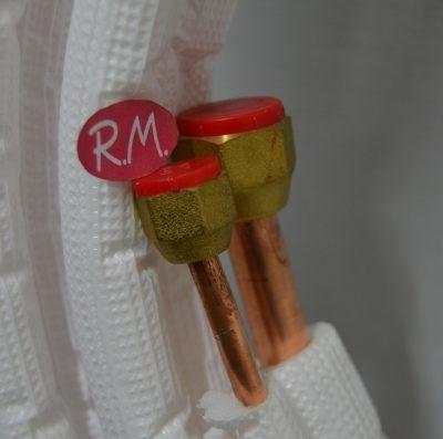 """Rollo de 3m tubo cobre frigorífico aislado y abocardado 1/4"""" - 1/2"""""""
