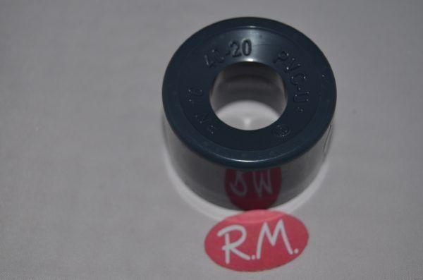 Reducción PVC gris macho Ø40 a hembra Ø20mm